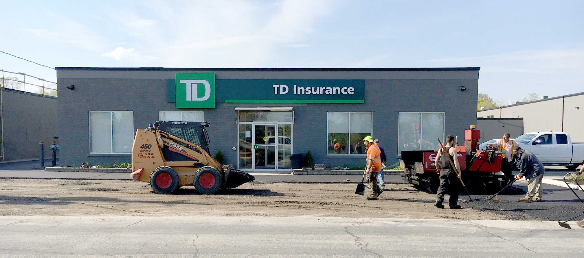 Asphalt Parking lot paving company toronto GTA Future Paving TD insurance
