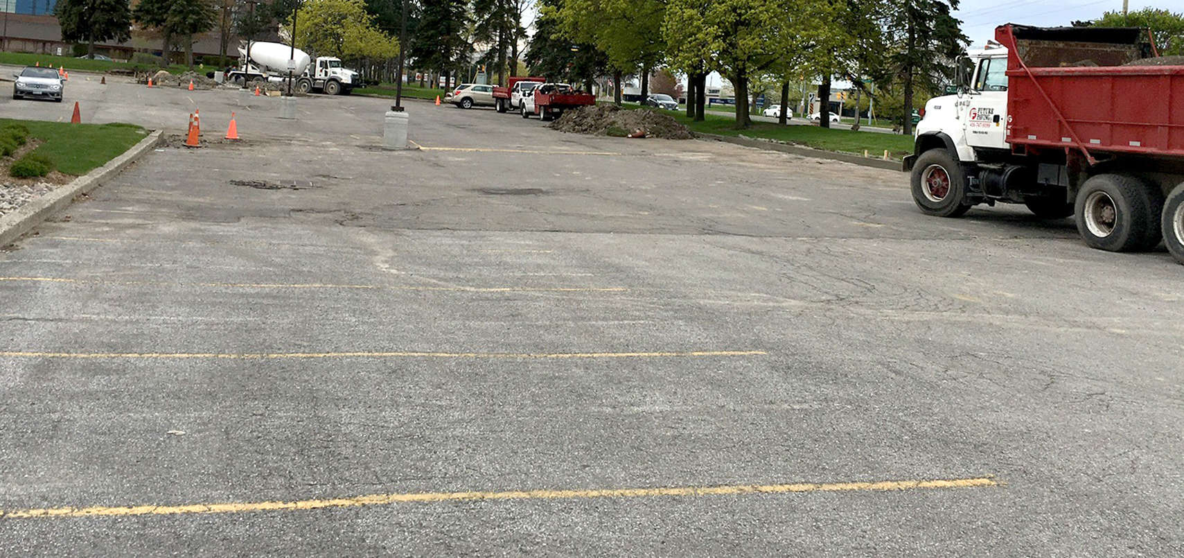 ASPHALT PARKING LOT Prep MAYFAIR RAQUET AND FITNESS CLUB
