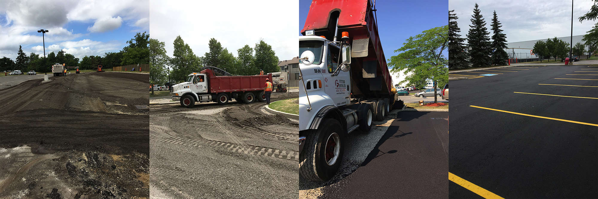 Brampton Parking Lot full restoration Asphalt Paving